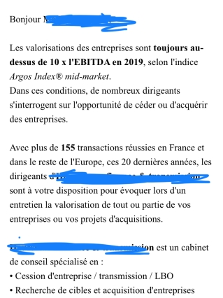 Proposition LBO